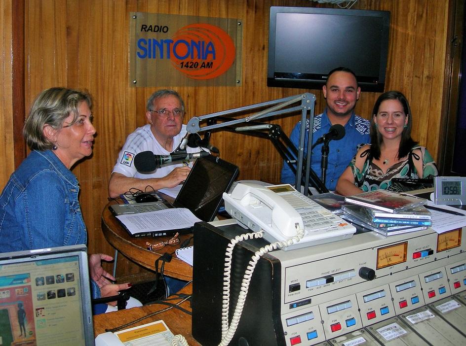 Isabel Jara, Antonio Álamo, Manuel Rodríguez y Josmar Peláez