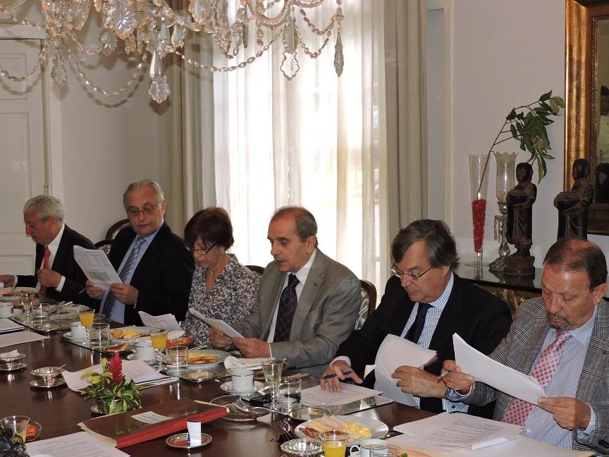 José Carlos Prieto, Alfredo Rajoy, josefina Benítez, Francisco González, embajador Pérez-Hernández, Juan Santana