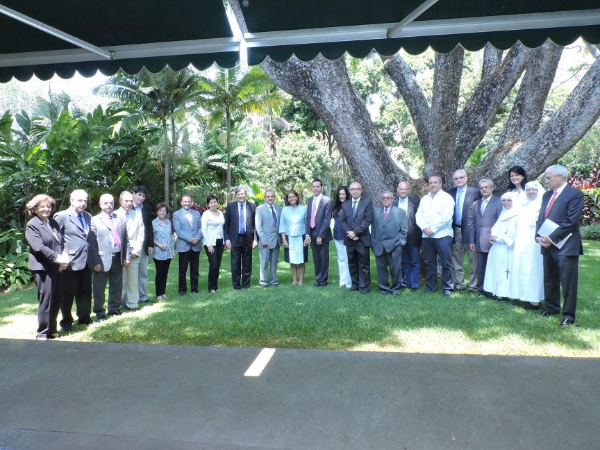 Grupo presente en la reunión del Consejo de Administración.
