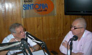 Director del programa, Antonio Álamo, en conversación con Jesús Pérez.
