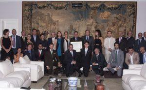 Foto de Grupo con motivo del homenaje a Richard Barreiro